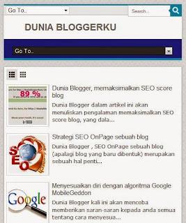Dunia Blogger, tampilan blog pada 640 x 480