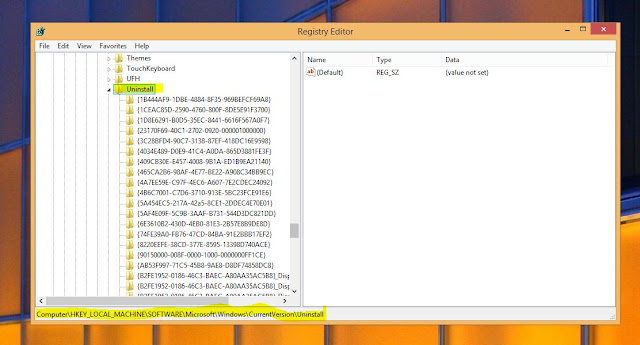 Removing the uninstalled software registry files