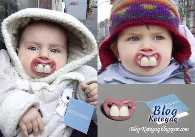 Gambar rekaan puting bayi yang kreatif