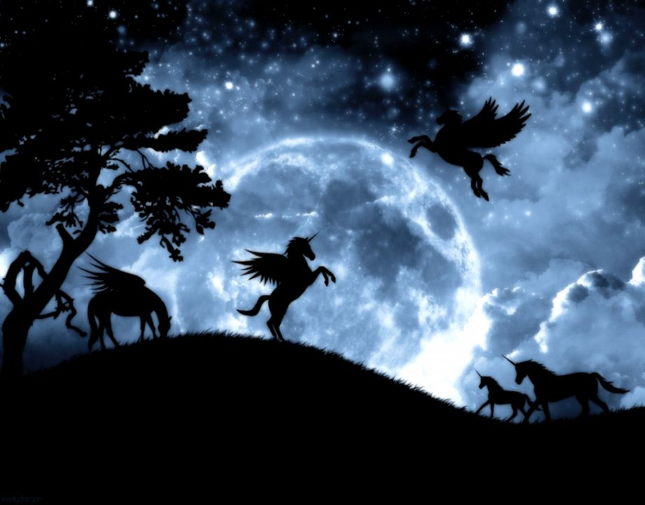 Dark Forest Night Moon id 50553 – BUZZERG