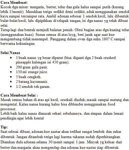 Resep Kue Lebaran | Kue Nastar