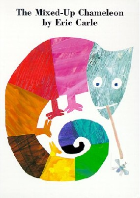 In his grace the mixed up chamelon art project for Eric carle chameleon template
