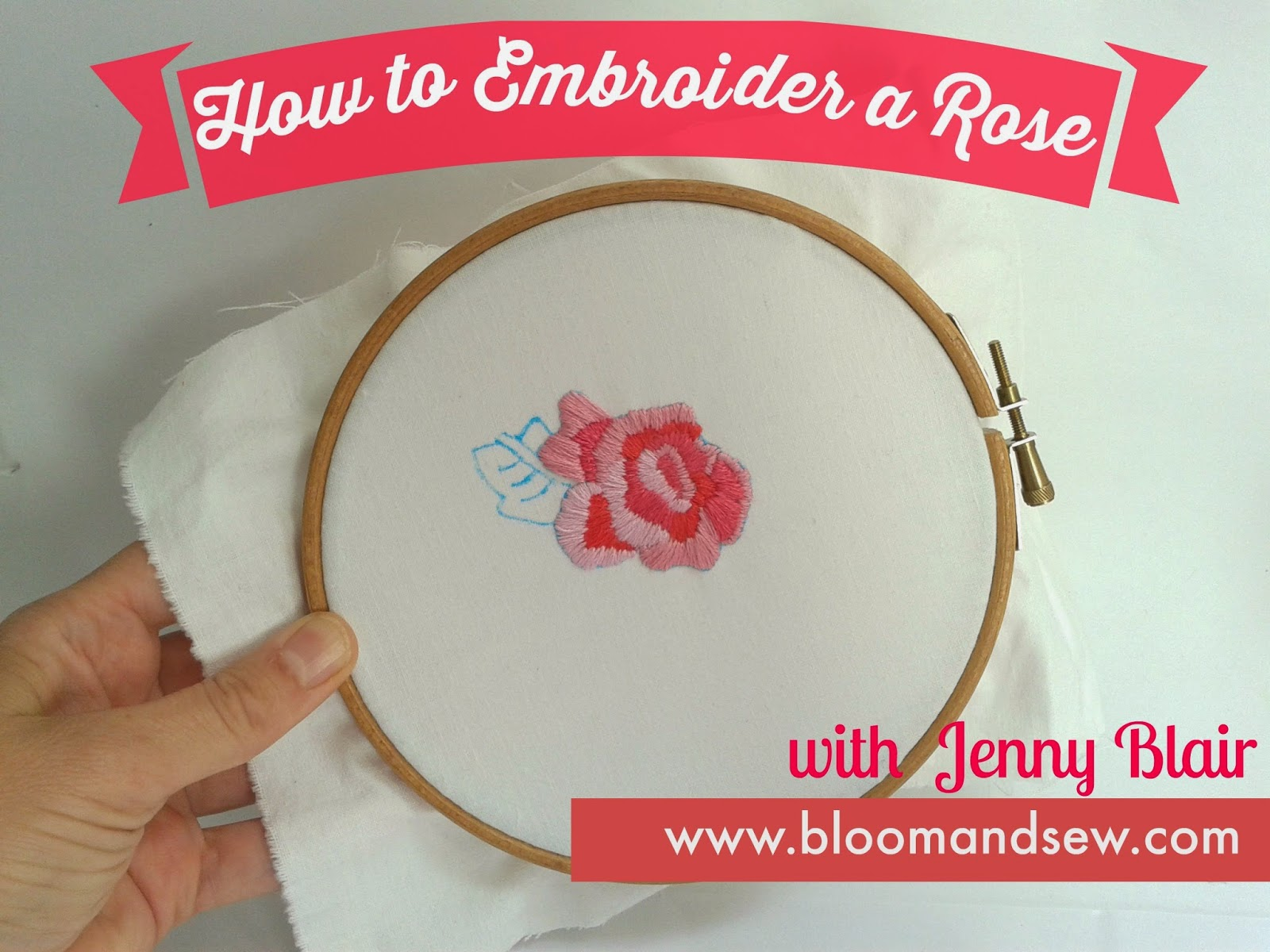 Tutorial How To Embroider A Vintage Style Rose