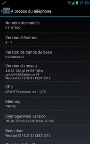 Jelly Bean in Galaxy Note