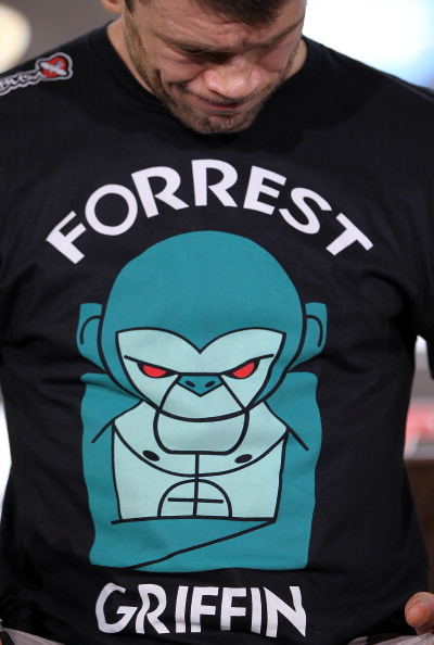 ufc mma fighter forrest griffin logo shirt picture image