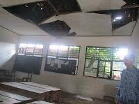 kondisi ruang belajar yang berada di SDN Negeri Jurang Mangu Barat 04, Kelurahan Jurang Mangu, Kecamatan Pondok Aren