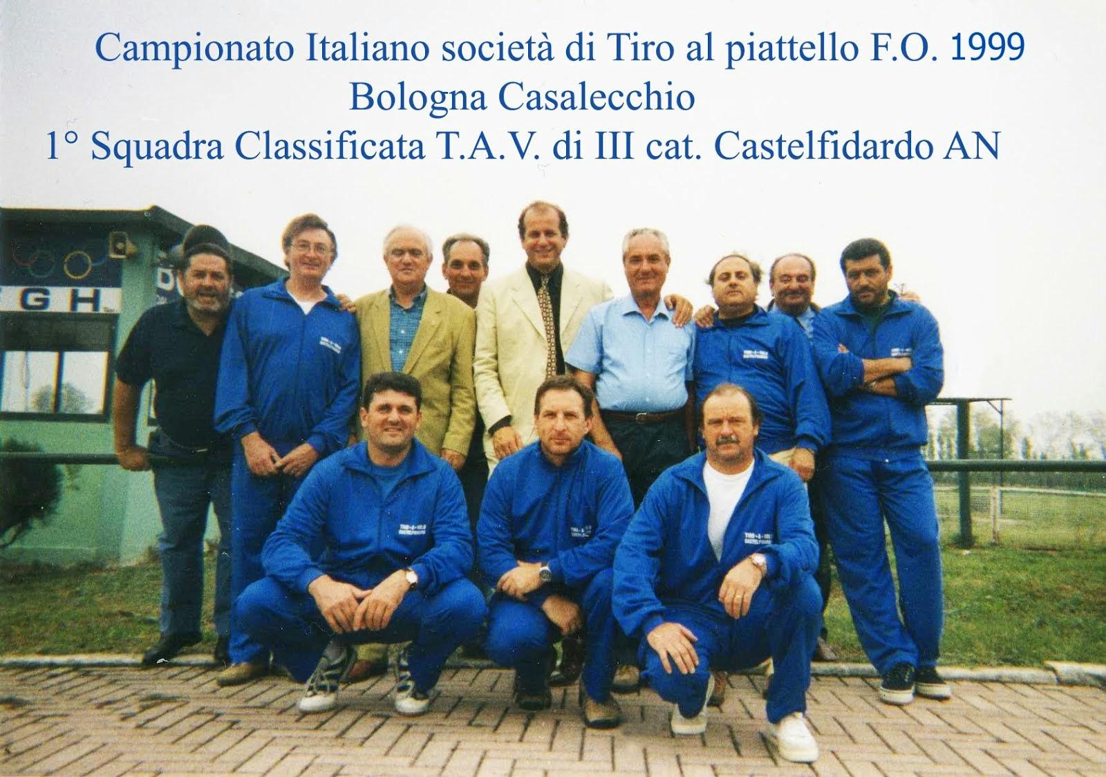 1999 Campionato Italiano Società - Squadra 1° Class. di III Categoria