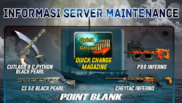 Point Blank Indonesia Hadirkan Event Bajak Laut (Pirate Week), Senjata Seri Inferno dan Black Pearl Terbaik dan Quick Change Magazine