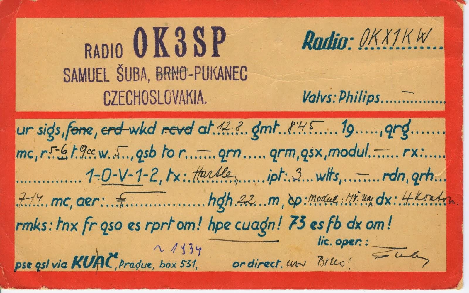 Album historických QSL do 1938