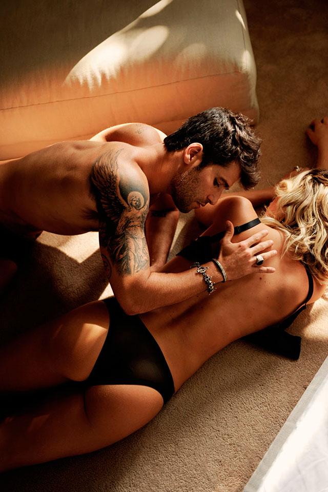 Bruno Gagliasso e Giovana Ewbank posam em clima sensual. Foto: Daniel Aratangy