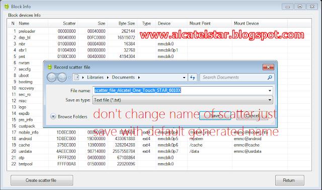 how to create scatter file alcatel star idol xpop mpop spop mtk