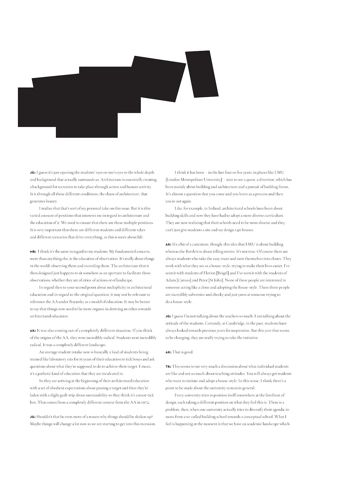 P.e.a.r paper for emerging architecture research
