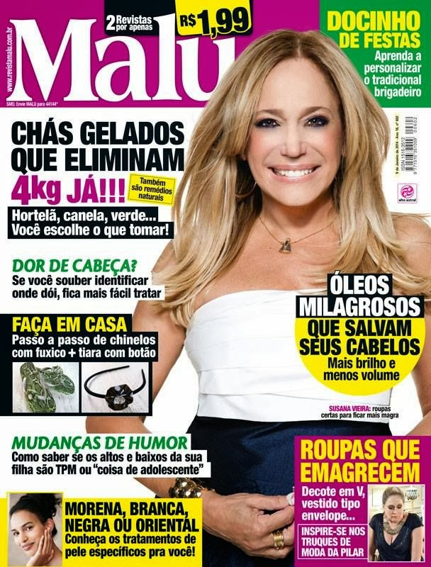 Magazine Cover : Susana Vieira Magazine Photoshoot Pics on Malu Magazine Brazil January 2014 Issue