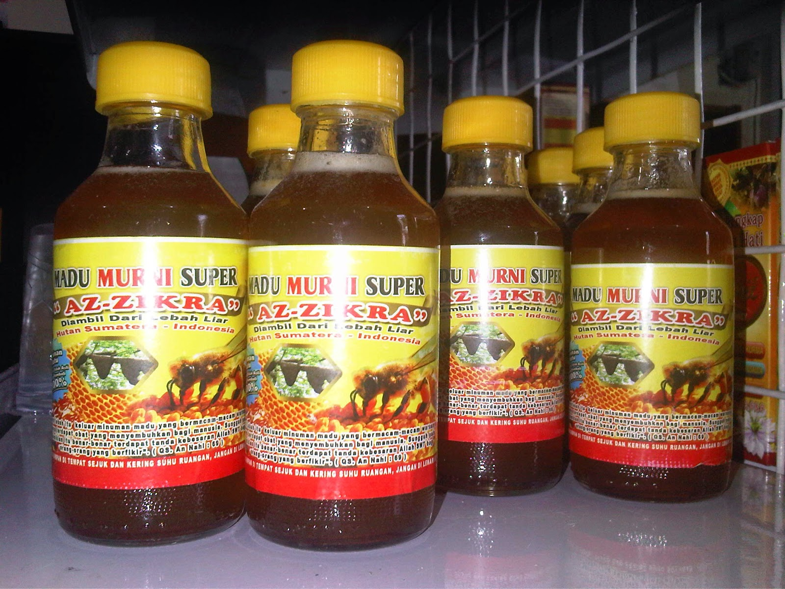 Madu Murni Super Az Zikra 150 Ml Hutan Sumatera Indo Sentra Keutamaan Lebah Mengambil Nektar Dari Berbagai Bunga Termasuk Tumbuhan Obat Obatan Produk Organik Dipanen Langsung