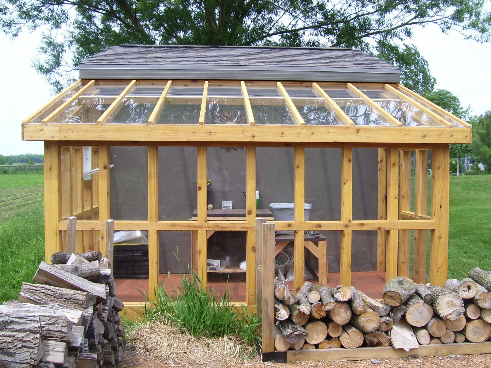 Sheds ottors garage plans with lean to for Lean to house designs