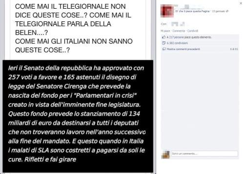 Protezione hoax bufala ieri il senato ha approvato il for Elenco senatori italiani