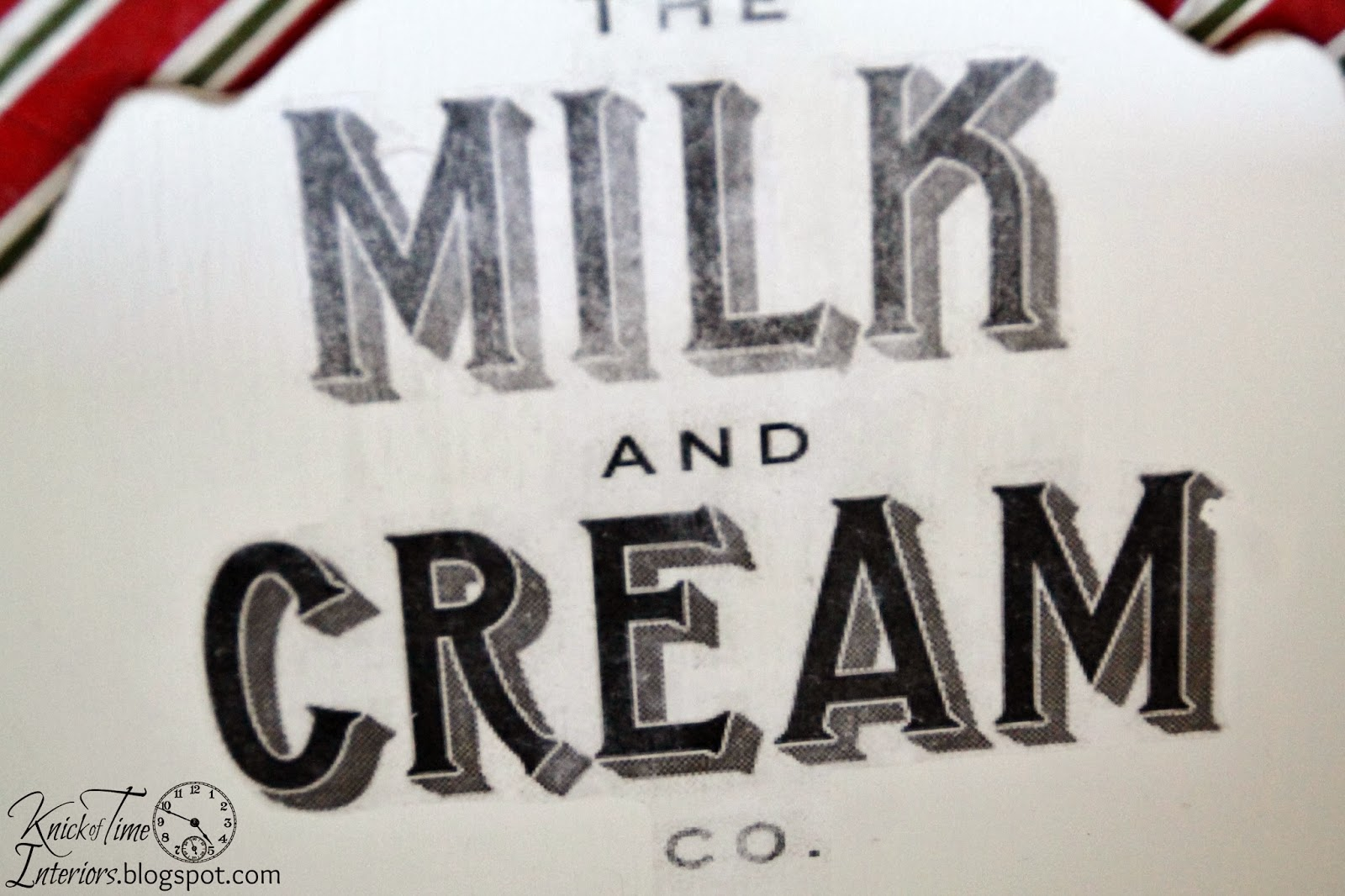 Omni Gel Image Transfer on Wood with Milk and Cream Company image via Knick of Time