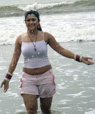 Tamil-Actress-Kushboo-beach-bikini-Photoshoot