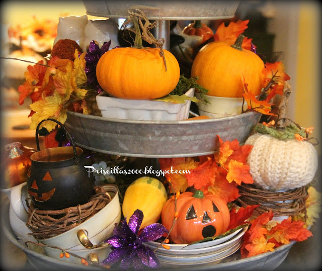 Pricilla's Halloween Tiered Tray-Treasure Hunt Thursday-From My Front Porch To Yours