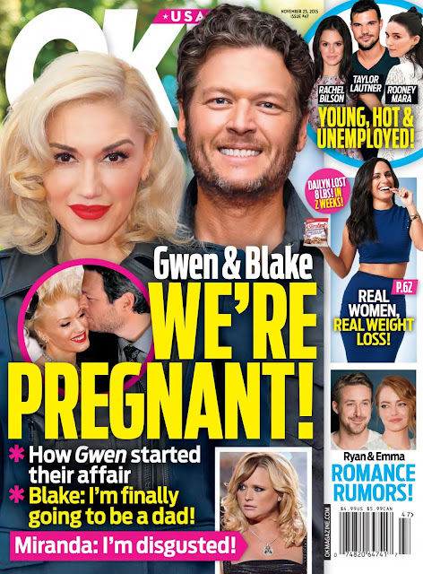 Actress, Singer @ Gwen Stefani - OK USA, November 2015