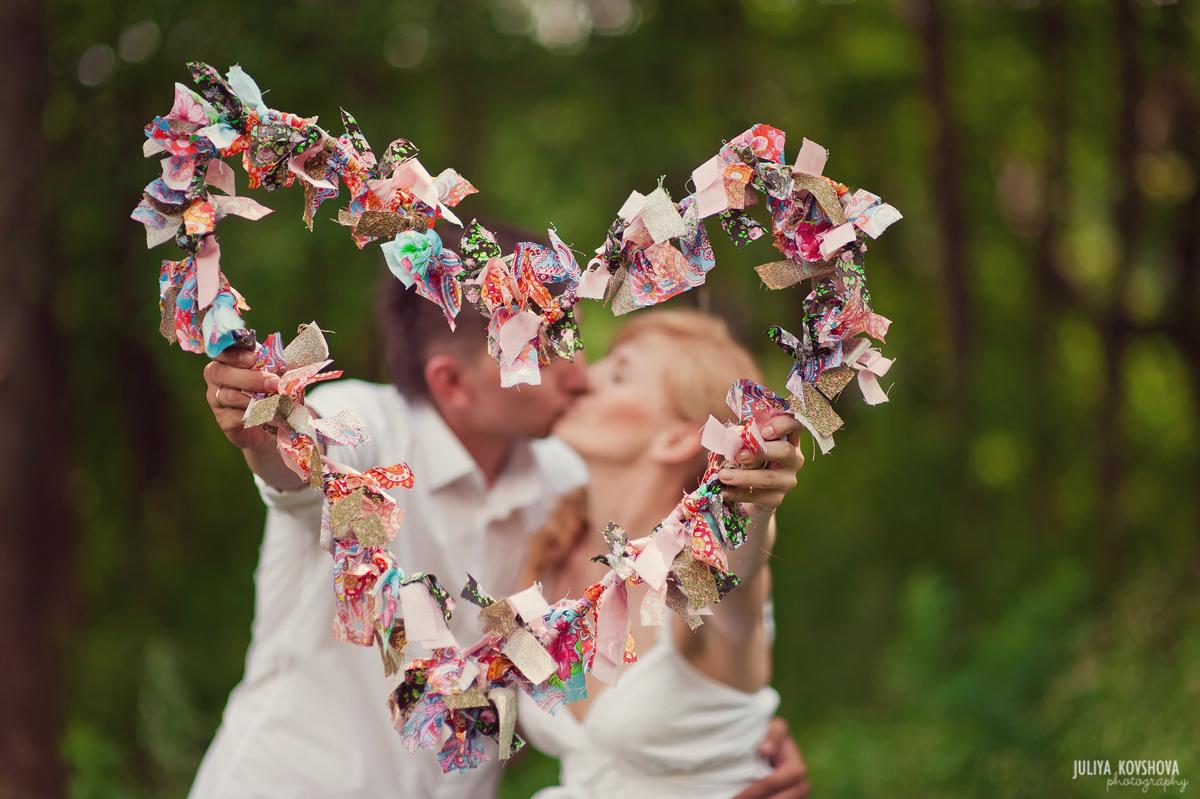 Оформление ситцевой свадьбы