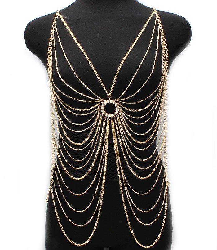 Modtoast Jewelry: Spider Web Body Chain, Gold, $29.99