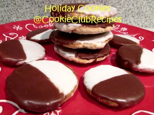 Make these Black and White Cookies for the holidays at CookieClubRecipes!