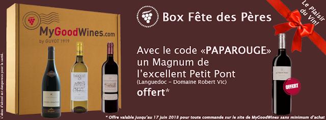MyGoodWines: 1 magnum de vin rouge offert pour toute commande + jeu concours