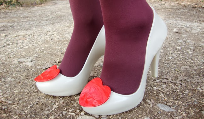 melissa shoes, shoes with red heart, valentines day shoes