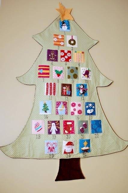 Felt Christmas Tree Advent Calendar Tutorial - Part 1 - Eat Pray ...