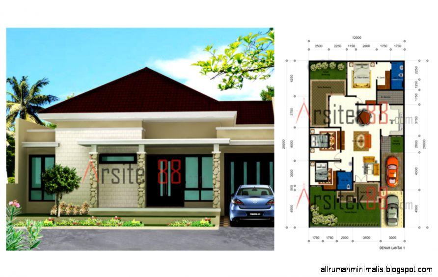 Denah Rumah Minimalis 2 Lantai Eksklusif   Model Rumah Modern