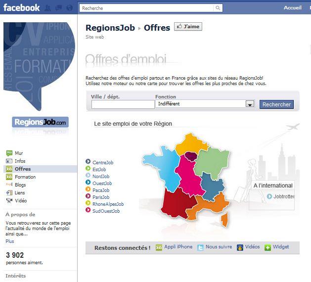 blog emploi et recrutement  recrutement sur facebook