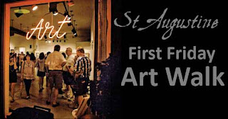 1st Friday Art Walk and Our City's 447th Birthday! 1 artwalk st augustine St. Francis Inn St. Augustine Bed and Breakfast