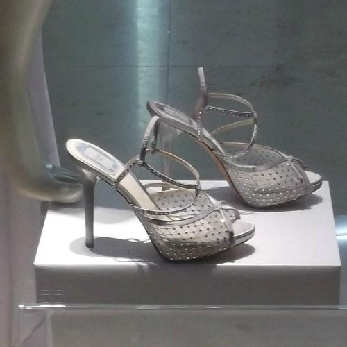 Nyári női bokapántos magassarkú cipő - Dior cipő divat
