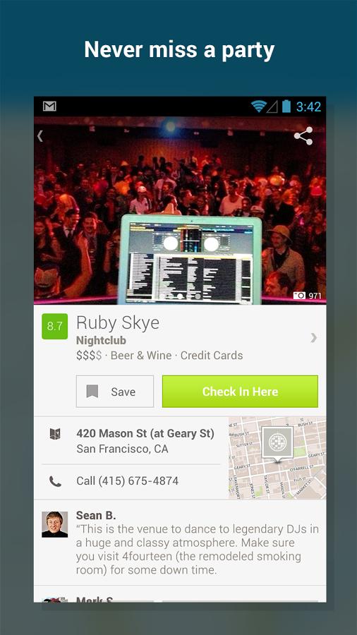 Foursquare Android Apk resimi 7