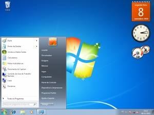 Interface principal do Windows 7