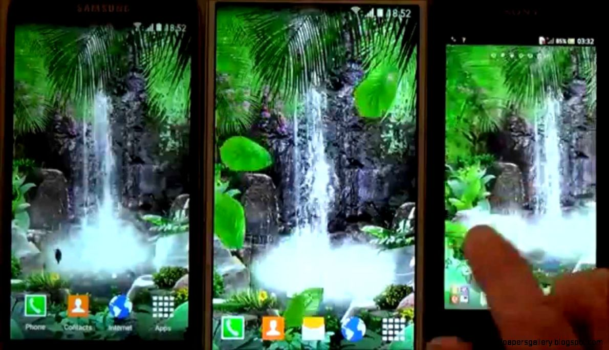 Free 3D waterfall live wallpaper for Android phones and tablets