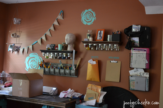 Poofy cheeks office craft room reveal for Decor yo pops