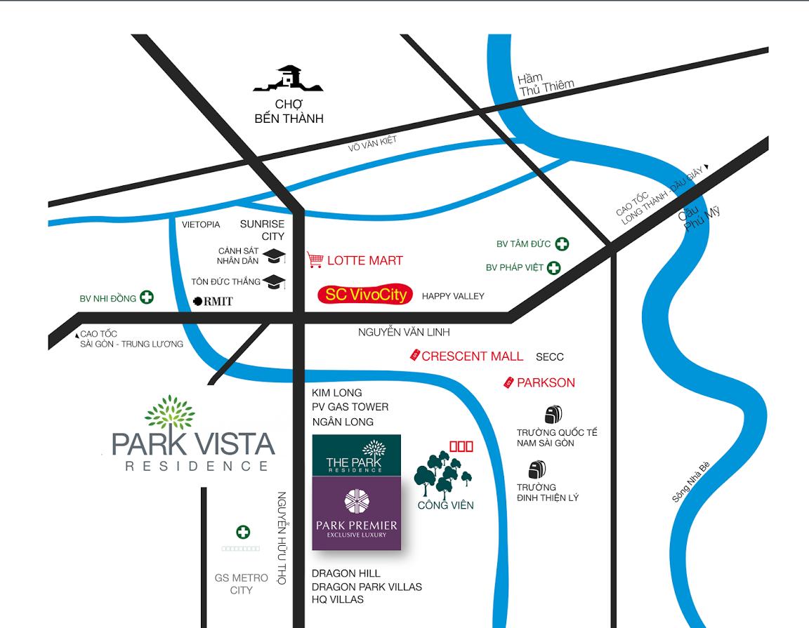 Vị trí căn hộ Park Vista Quận 7