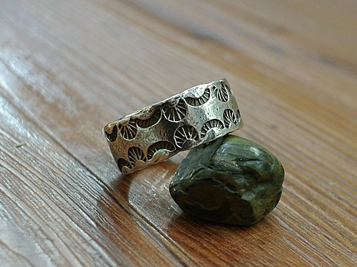 legend 的印第安風製作 native american style silver ring make by Nao san of legend