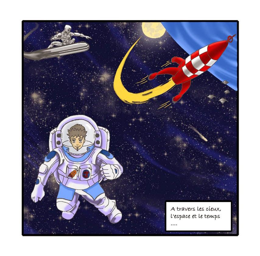 Un petit pas pour l'homme un bon sujet pour la BD: l'espace