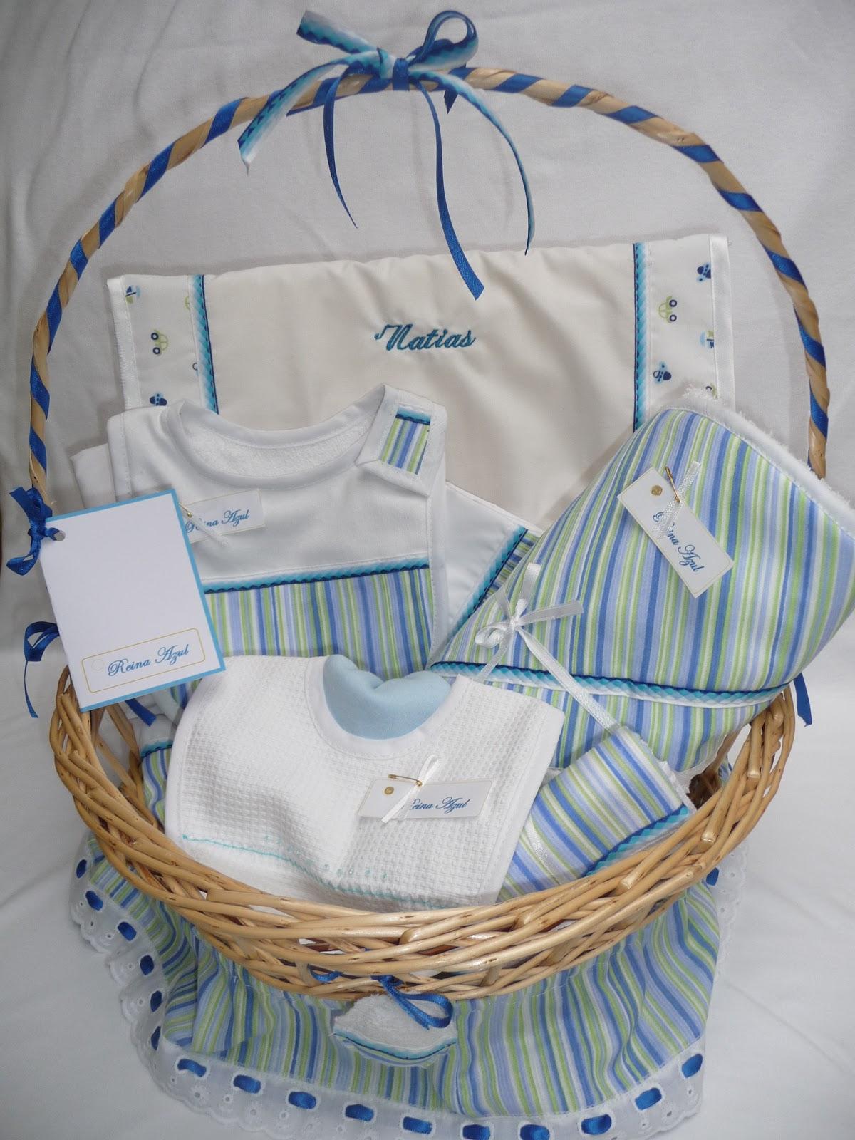 Canastas de mimbre decoradas para bebé - Imagui