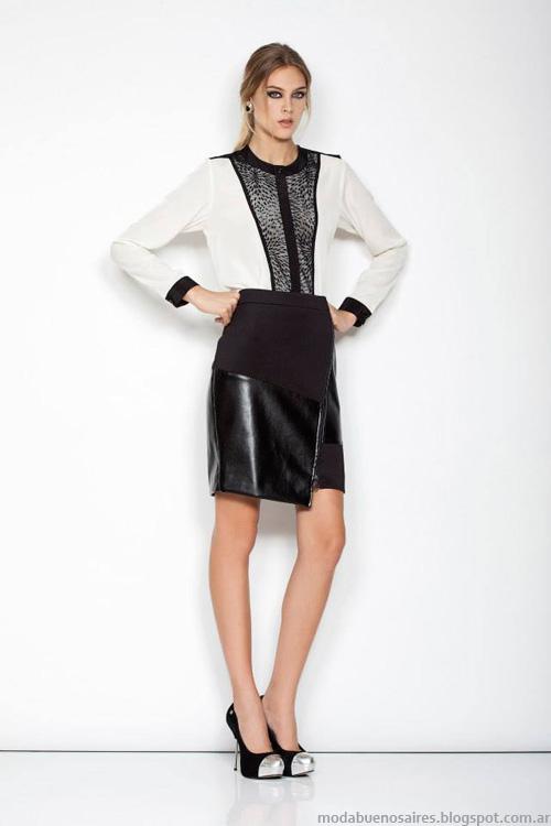 Janet Wise invierno 2014 faldas de moda.