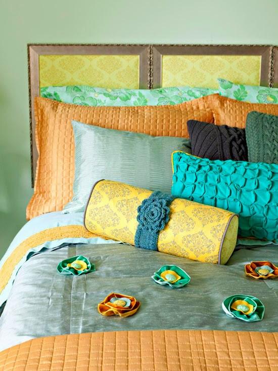 Ideas Faciles Para El Hogar: Tienes una cama sin la cabecera