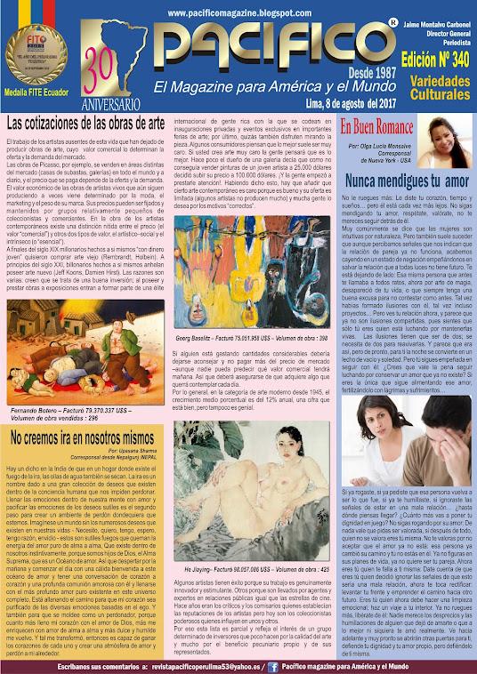 Revista Pacífico Nº 340 Variedades Culturales