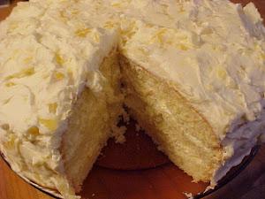 Gâteau à la vanille et aux ananas