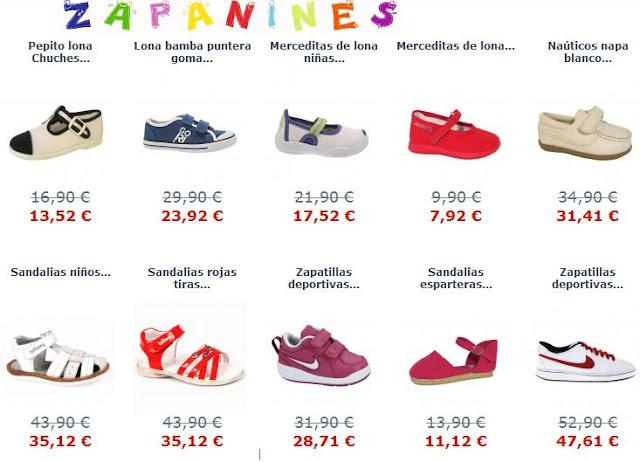 zapatos baratos de niños y niñas en rebajas
