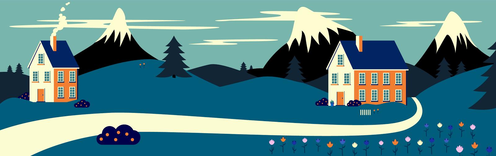 Scandinavian Houses - Jen Haugan Animation & Illustration