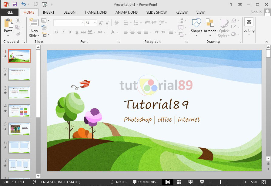 249 template Presentasi PowerPoint gratis