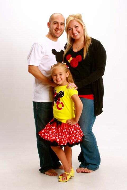 She Is Having A Minnie Mouse Themed Birthday Party And Mom Dad Wanted To Join In Too With Matching Shirts